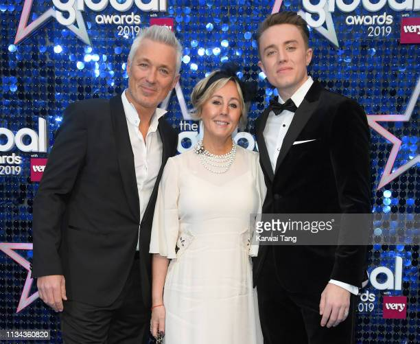 Martin Kemp, Shirlie Kemp and Roman Kemp attend The Global Awards 2019 at Eventim Apollo, Hammersmith on March 07, 2019 in London, England.