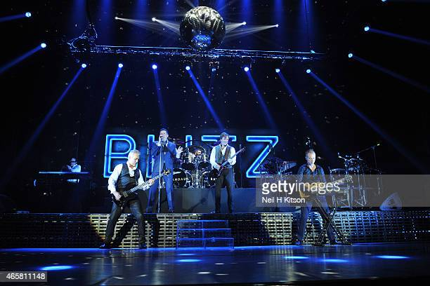 Martin Kemp Tony Hadley John Keeble Steve Norman and Gary Kemp of Spandau Ballet at Nottingham Capital FM Arena on March 10 2015 in Nottingham England