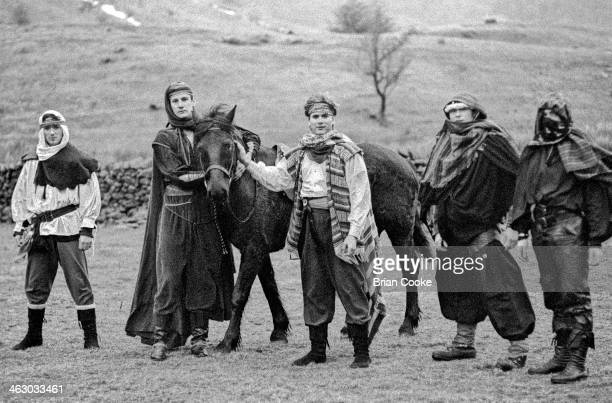 LR Martin Kemp Tony Hadley Steve Norman Gary Kemp and John Keeble of Spandau Ballet photographed on location in the Kirkstone Pass Lake District...