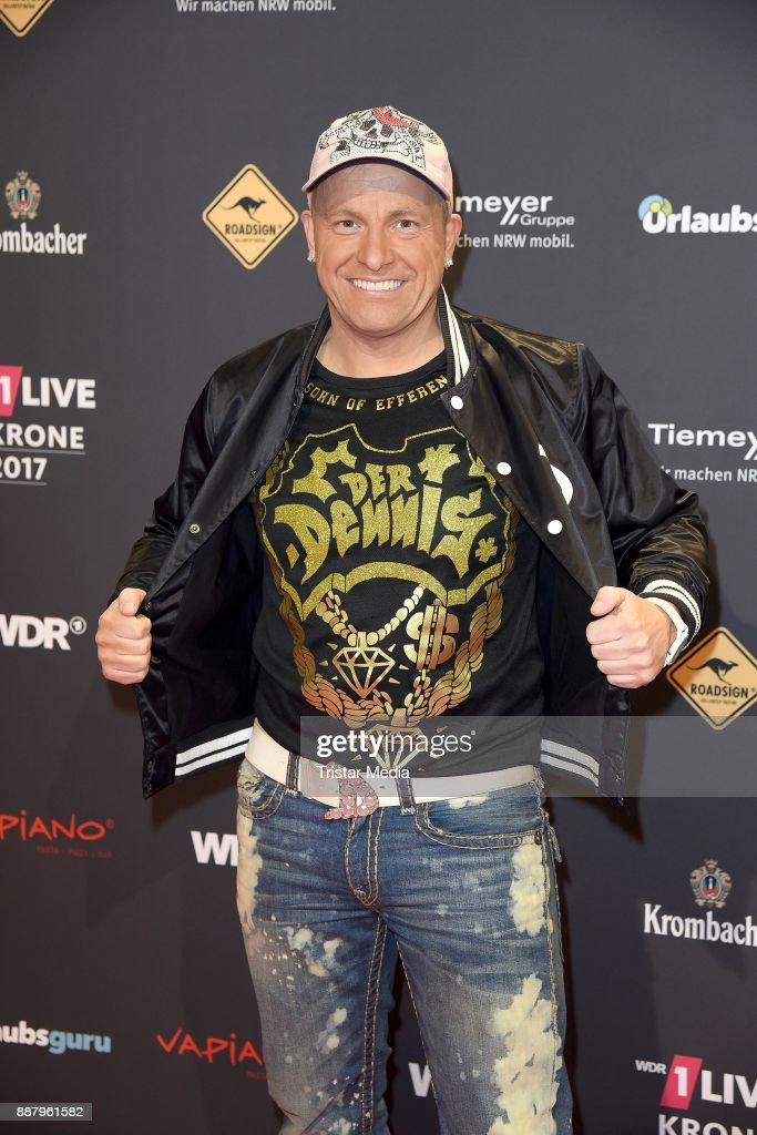 Martin Klempnow aka Dennis aus Huerth attends the 1Live Krone radio award at Jahrhunderthalle on December 7, 2017 in Bochum, Germany.