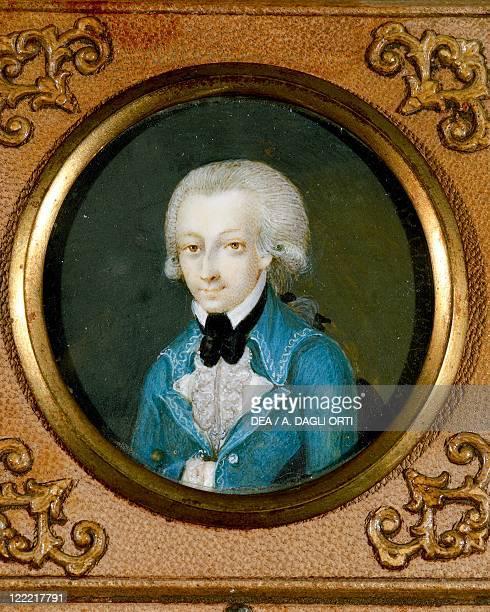 Martin Knoller Portrait of Wolfgang Amadeus Mozart Austrian composer ca 1773 miniature on ivory