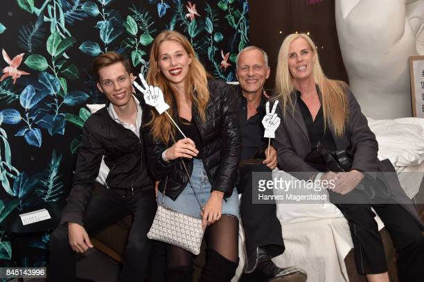 Martin Kolonko and his wife Anke and their children Lia and Simon during the 'The Lovelace' Grand Opening at Lovelace on September 9 2017 in Munich...