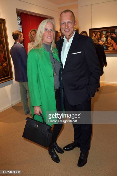 Martin Kolonko and his wife Anke Kolonko at a cocktail reception hosted by the Dorotheum on September 17 2019 in Munich Germany
