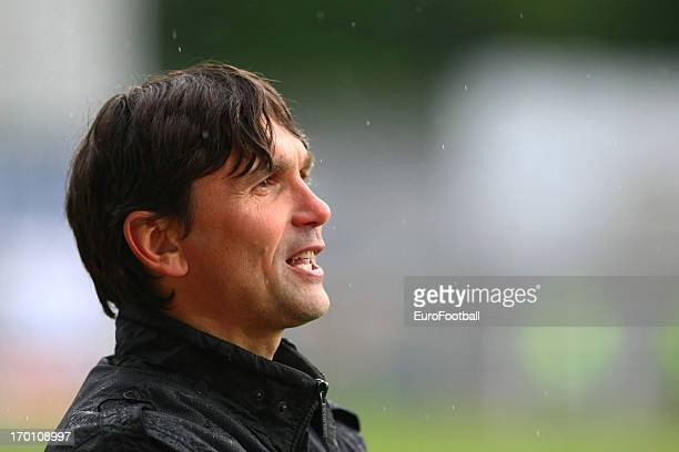 Martin Kotulek, coach of SK Sigma Olomouc looks on during the Czech First League match between FK Jablonec and SK Sigma Olomouc held on May 26, 2013...