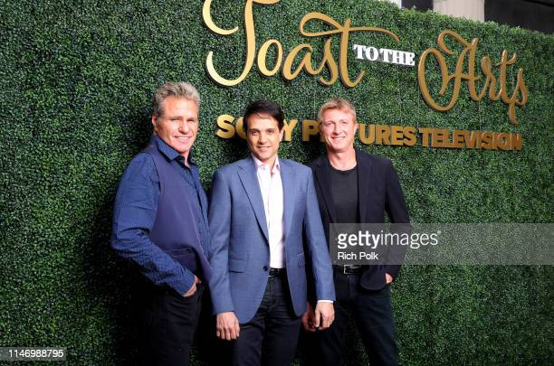 Martin Kove, Ralph Macchio and William Zabka attend Sony Pictures Television's Emmy FYC Event 2019 'Toast to the Arts' on May 04, 2019 in Los...