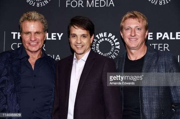 "Martin Kove, Ralph Macchio and William Zabka attend the premiere screening and conversation of YouTube Original's ""Cobra Kai"" Season 2 at The Paley..."