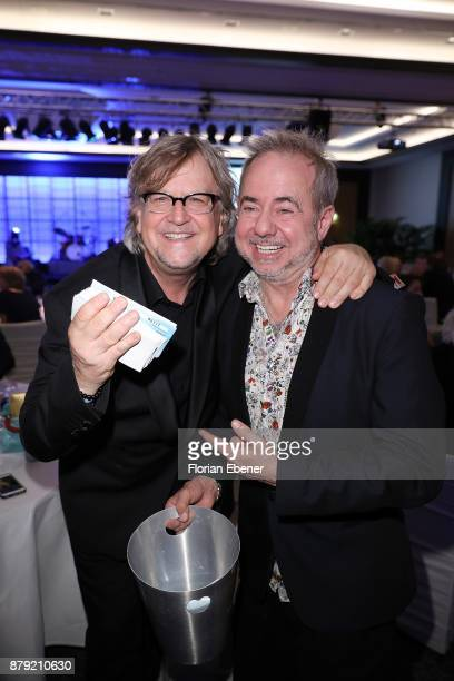 Martin Krug and Helmut Zerlett attend the charity event Dolphin's Night at InterContinental Hotel on November 25 2017 in Duesseldorf Germany