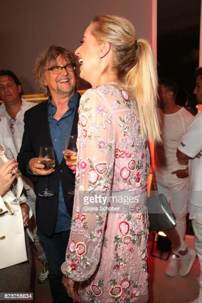 Martin Krug and his exgirlfriend Verena Kerth during the Hotel Vier Jahreszeiten summer party 'Eclat Dore' on July 26 2017 in Munich Germany