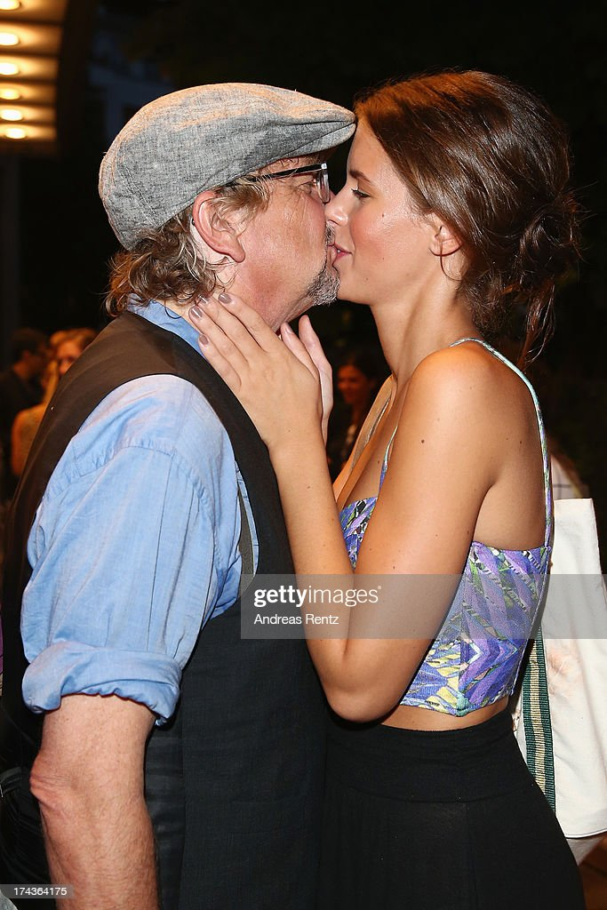 Martin Krug and Julia Trainer attend the Marcel Ostertag fashion show at Charles Hotel on July 24, 2013 in Munich, Germany.