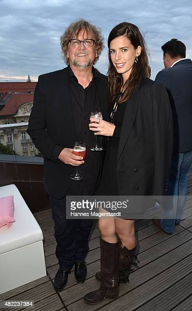 Martin Krug and Julia Trainer attend the summer party at Hotel Bayerischer Hof on July 28 2015 in Munich Germany