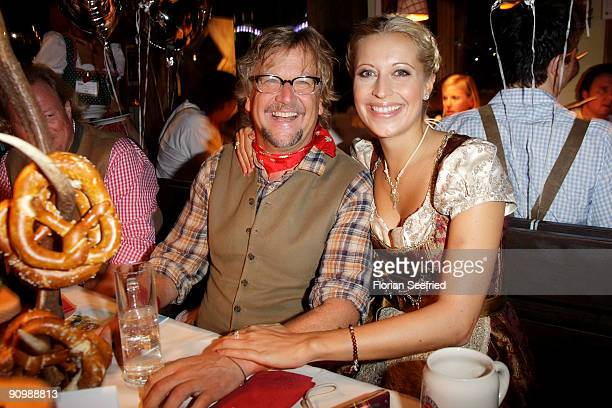 Martin Krug and Verena Kerth attend the Oktoberfest 2009 at Kaefer Schaenke at the Theresienwiese on September 20 2009 in Munich Germany Oktoberfest...
