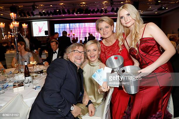 Martin Krug Barbara Sturm Andrea Spatzek and Anna Hiltrop attend the charity event dolphin aid gala 'Dolphin's Night' at InterContinental Hotel on...