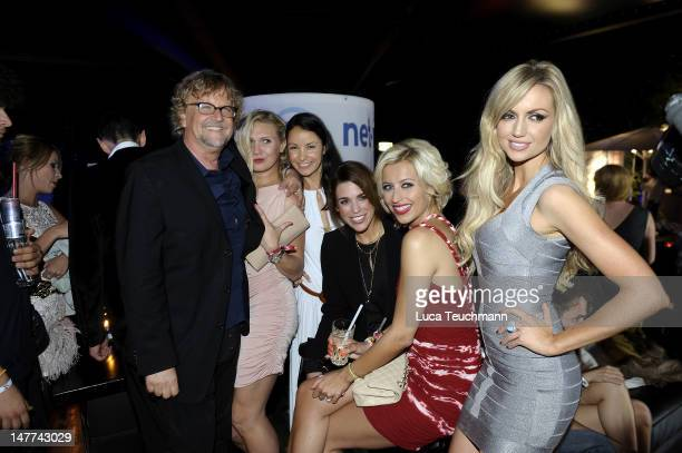 Martin Krug, Magdalena Brzeska, Joana Danciu, Miriam Rehbein, Verena Kerth and Rosanna Davison attend the Movie Meets Media Party during the Munich...