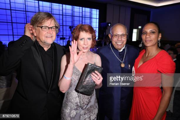 Martin Krug Monica Lierhaus and Barbara Becker attend the charity event Dolphin's Night at InterContinental Hotel on November 25 2017 in Duesseldorf...