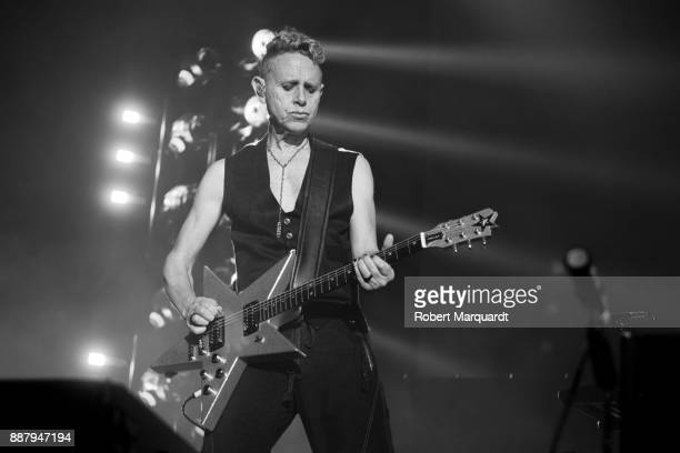 Martin L Gore of Depeche Mode performs on stage at the Palau Sant Jordi on December 7 2017 in Barcelona Spain