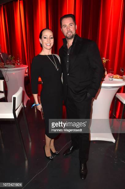 Martin Lacey Jr and his wife Jana Mandana attend the 24th Annual Jose Carreras Gala at Bavaria Studios on December 12 2018 in Munich Germany