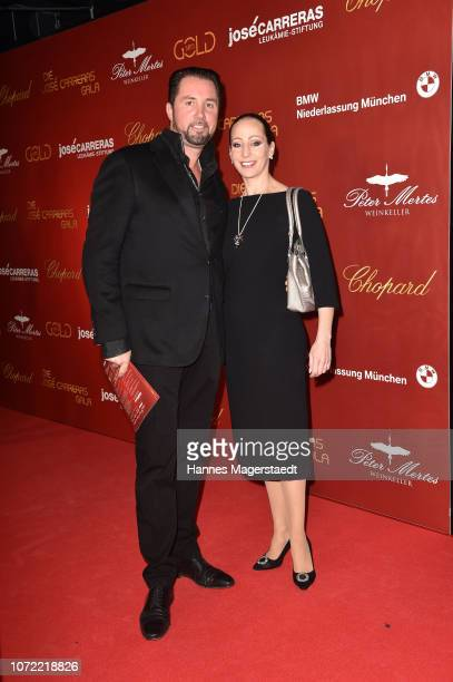 Martin Lacey jr and his wife Jana Mandana during the 24th Annual Jose Carreras Gala at Bavaria Studios on December 12 2018 in Munich Germany