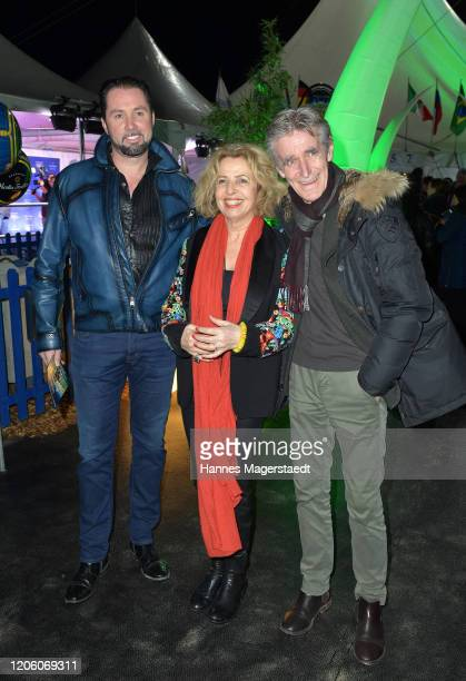 Martin Lacey jr Michaela May and her husband Bernd Schadewald attend the premiere of Totem by Cirque du Soleil at Theresienwiese on February 13 2020...