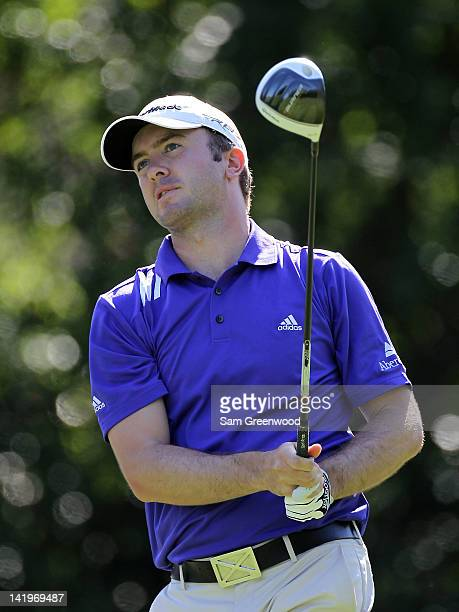 Martin Laird of Scotland plays a shot during the first round of the Transitions Championship at Innisbrook Resort and Golf Club on March 15 2012 in...