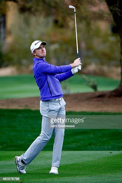 Martin Laird of Scotland plays a shot on the 2nd fairway during the third round of the Waste Management Phoenix Open at TPC Scottsdale on January 31...