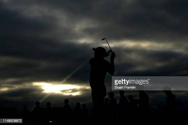 Martin Laird of Scotland plays his shot from the eighth tee during the third round of the ATT Byron Nelson at Trinity Forest Golf Club on May 11 2019...