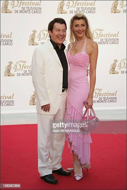 Martin Lamotte and his wife Karine Belly in Monaco on June 30, 2005.
