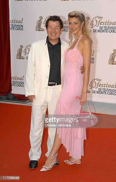 Martin Lamotte and Karine Belly during 45th Monte Carlo Television Festival - TF1 Cocktail - Arrivals at Grimaldi Forum in Monte Carlo, Monaco.