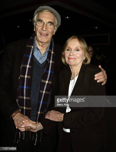 """Martin Landau and Eva Marie Saint during The Actor's Studio Present """"Touch the Names"""" Reading Directed by Jeffrey Hayden at The Sunset Millennium in..."""