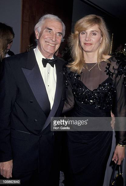 Martin Landau and Gretchen Becker during 50th Anniversary Party For Charlton Heston and Lydia Heston at Hotel Nikko in Beverly Hills California...