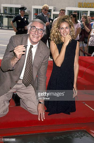 Martin Landau and Sarah Jessica Parker during Martin Landau Handprint Ceremony at Vista Theater in Hollywood California United States