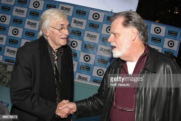 Martin Landau and Taylor Hackford attend the 2009 Los Angeles Film Festival's Poolside Chat REEL LIFE LA at the W Hotel Westwood on June 24 2009 in...