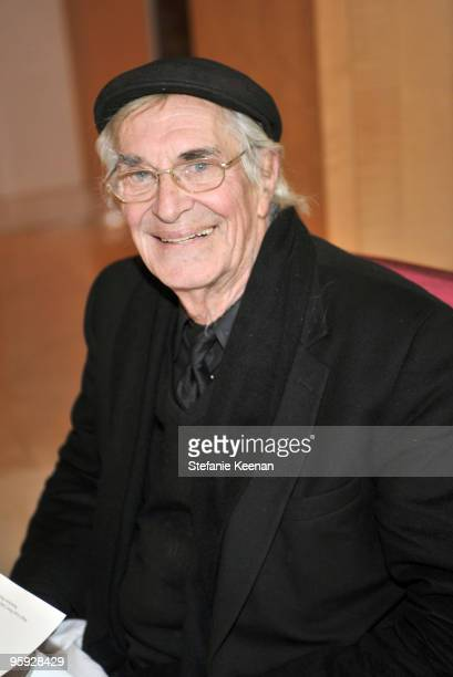 Martin Landau attends a lunch in honor of Penleope Cruz to celebrate 'Nine' at L'Ermitage on January 21 2010 in Los Angeles California