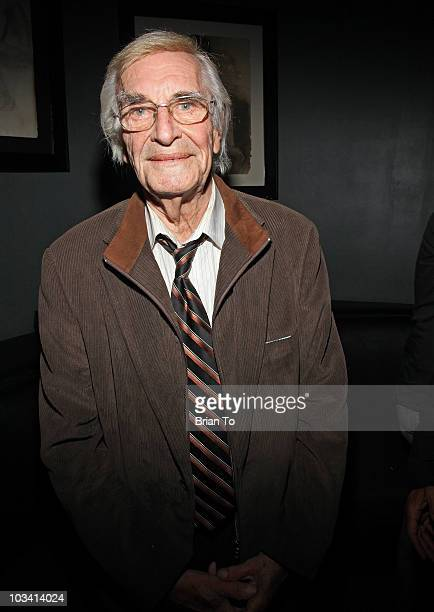 Martin Landau attends the wrap party for the feature film 'Mysteria' on August 16 2010 in Hollywood California