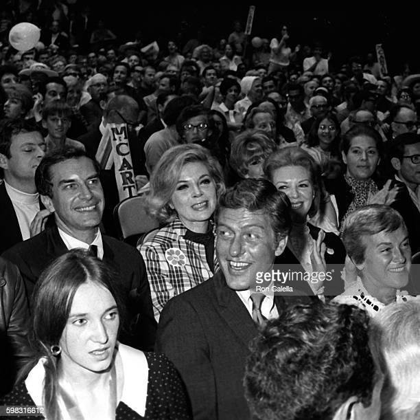 Martin Landau Barbara Bain Dick Van Dyke and wife Margie Van Dyke attend Eugene McCarthy Campaign Rally on June 2 1968 at the Santa Monica Civic...