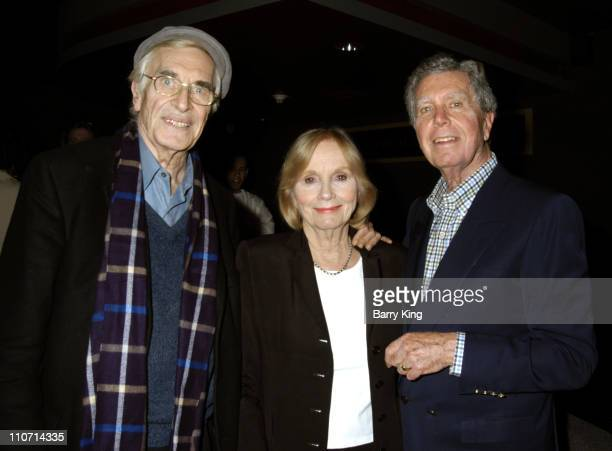 Martin Landau Eva Marie Saint and Jeffrey Hayden during The Actor's Studio Present Touch the Names Reading Directed by Jeffrey Hayden at The Sunset...