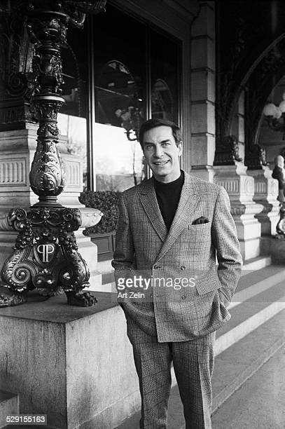 Martin Landau outside at the Plaza Hotel circa 1970 New York
