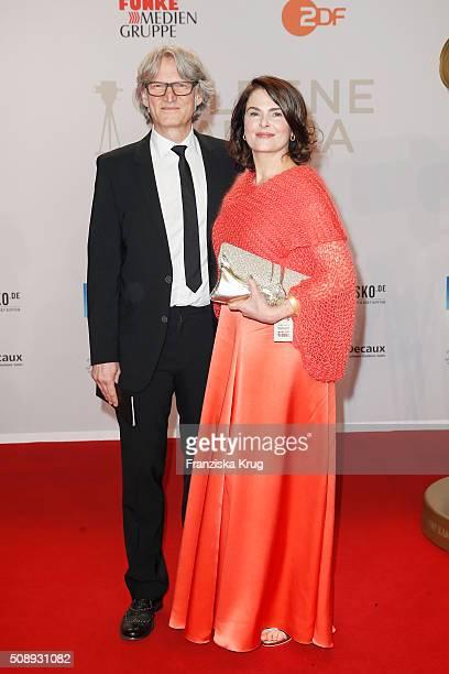 Martin Langer and Barbara Auer attend the Goldene Kamera 2016 on February 6 2016 in Hamburg Germany