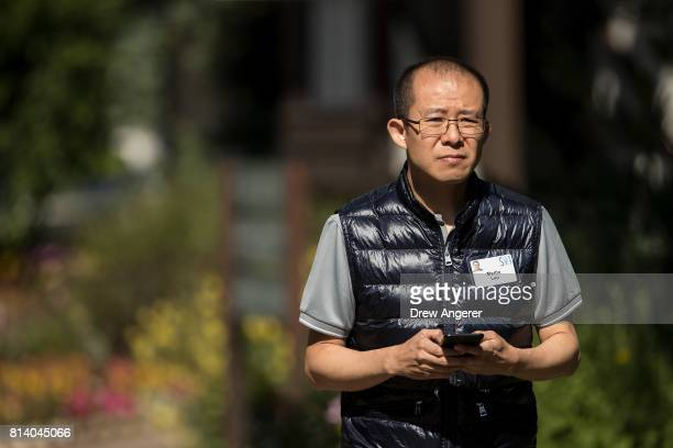 Martin Lau president of Tencent Holdings attends the third day of the annual Allen Company Sun Valley Conference July 13 2017 in Sun Valley Idaho...