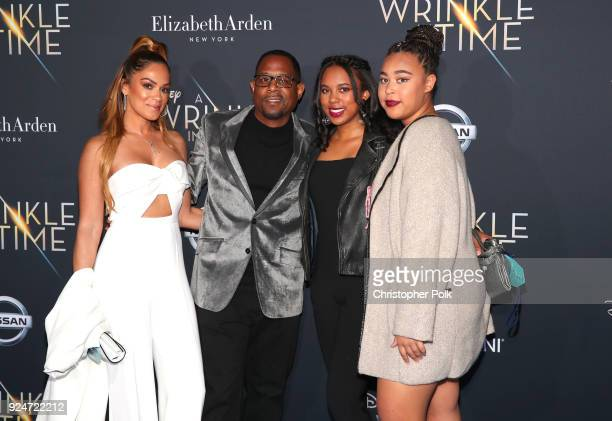Martin Lawrence and family attend the premiere of Disney's A Wrinkle In Time at the El Capitan Theatre on February 26 2018 in Los Angeles California