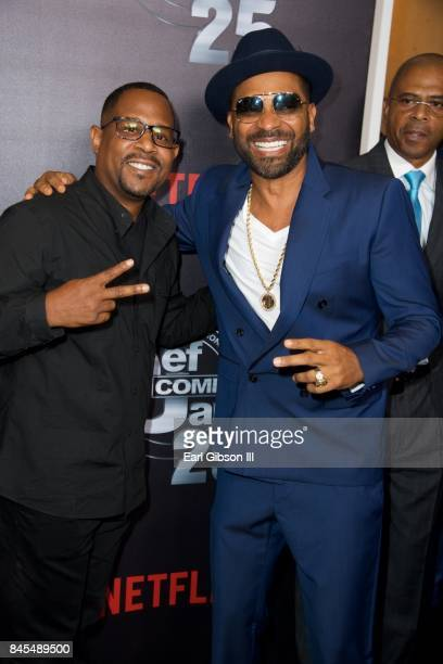 Martin Lawrence and Mike Epps attend Netflix Presents Russell Simmons 'Def Comedy Jam 25' Special Event at The Beverly Hilton Hotel on September 10...