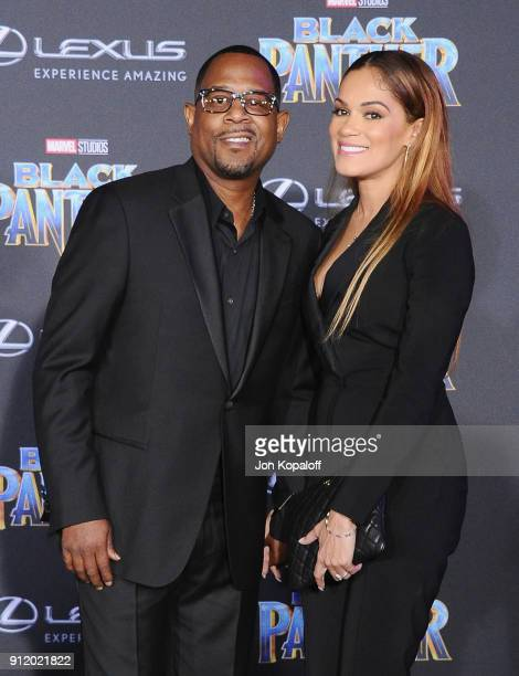 Martin Lawrence and Roberta Moradfar attend the Los Angeles Premiere 'Black Panther' at Dolby Theatre on January 29 2018 in Hollywood California