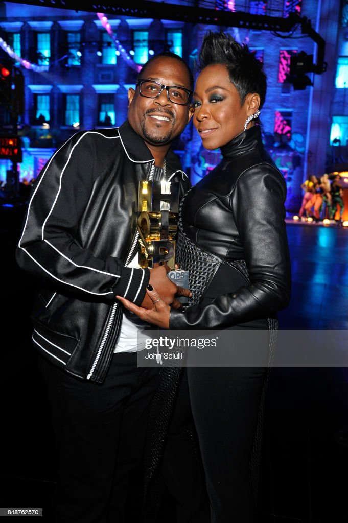 Martin Lawrence and Tichina Arnold attend VH1 Hip Hop Honors: The 90s Game Changers at Paramount Studios on September 17, 2017 in Los Angeles, California.