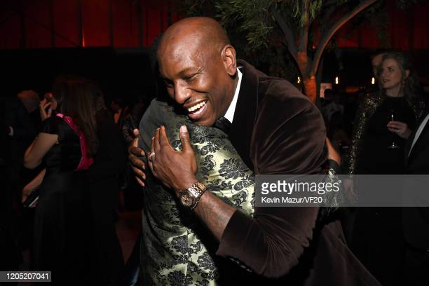 Martin Lawrence and Tyrese Gibson attend the 2020 Vanity Fair Oscar Party hosted by Radhika Jones at Wallis Annenberg Center for the Performing Arts...