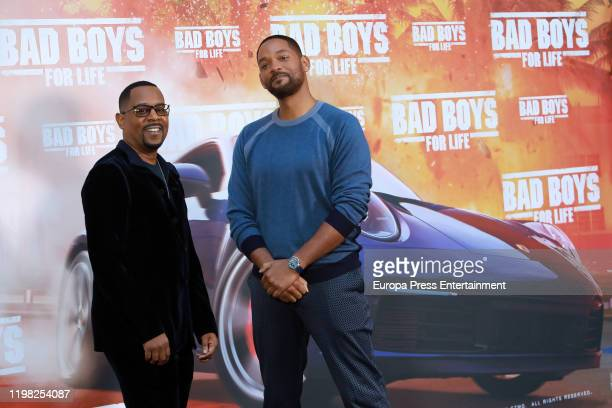 Martin Lawrence and Will Smith attend 'Bad Boys for life' photocall at Hotel Villamagna on January 08 2020 in Madrid Spain