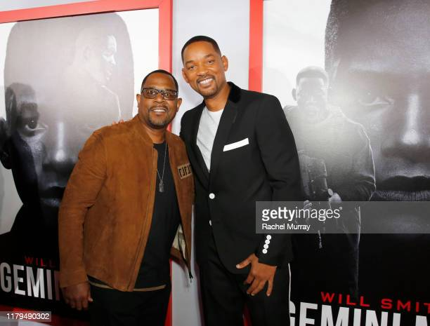 Martin Lawrence and Will Smith attend the Premiere of Gemini Man at the TCL Chinese Theater in Hollywood CA on October 6 2019