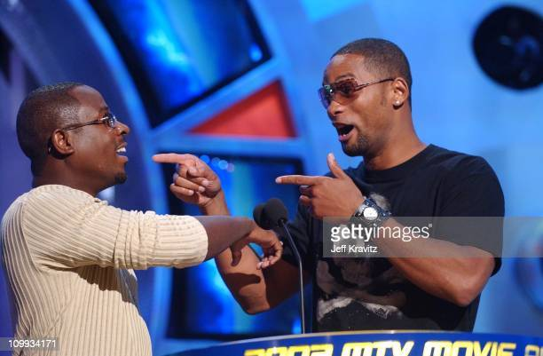 Martin Lawrence and Will Smith during 2003 MTV Movie Awards Show at The Shrine Auditorium in Los Angeles California United States