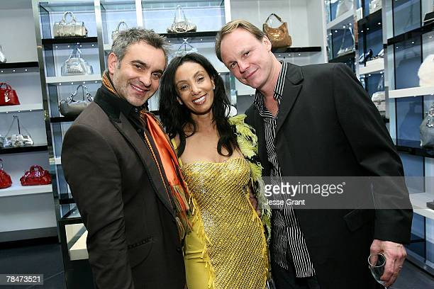 "Martin Lawrence Bullard, Julie Brown and Martin Sherman at the Versace Presents ""Chocolate and Champagne"" event on December 13, 2007 at Versace in..."