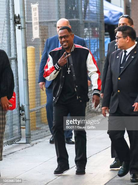 Martin Lawrence is seen arriving at 'Jimmy Kimmel Live' on October 25 2018 in Los Angeles California