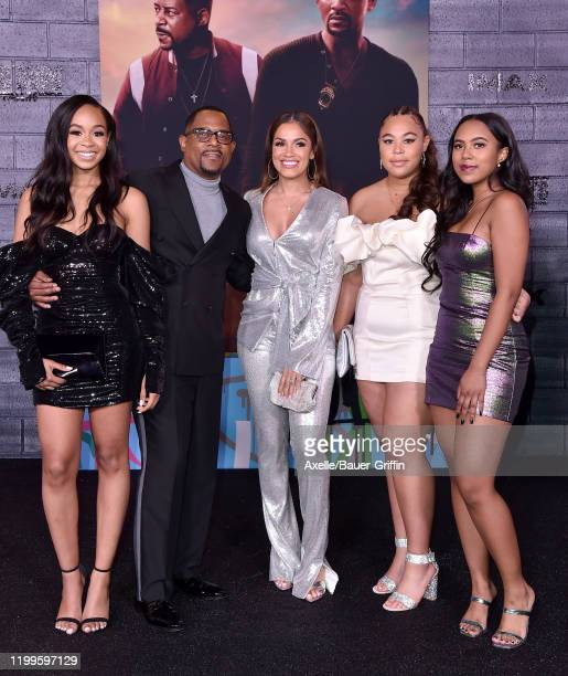 Martin Lawrence Roberta Moradfar and family attend the Premiere of Columbia Pictures' Bad Boys for Life at TCL Chinese Theatre on January 14 2020 in...
