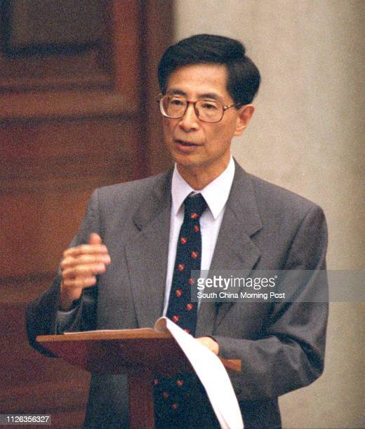 Martin Lee Chuming is speaking at the Legco meeting Pix by CY Yu 5 Jul 95
